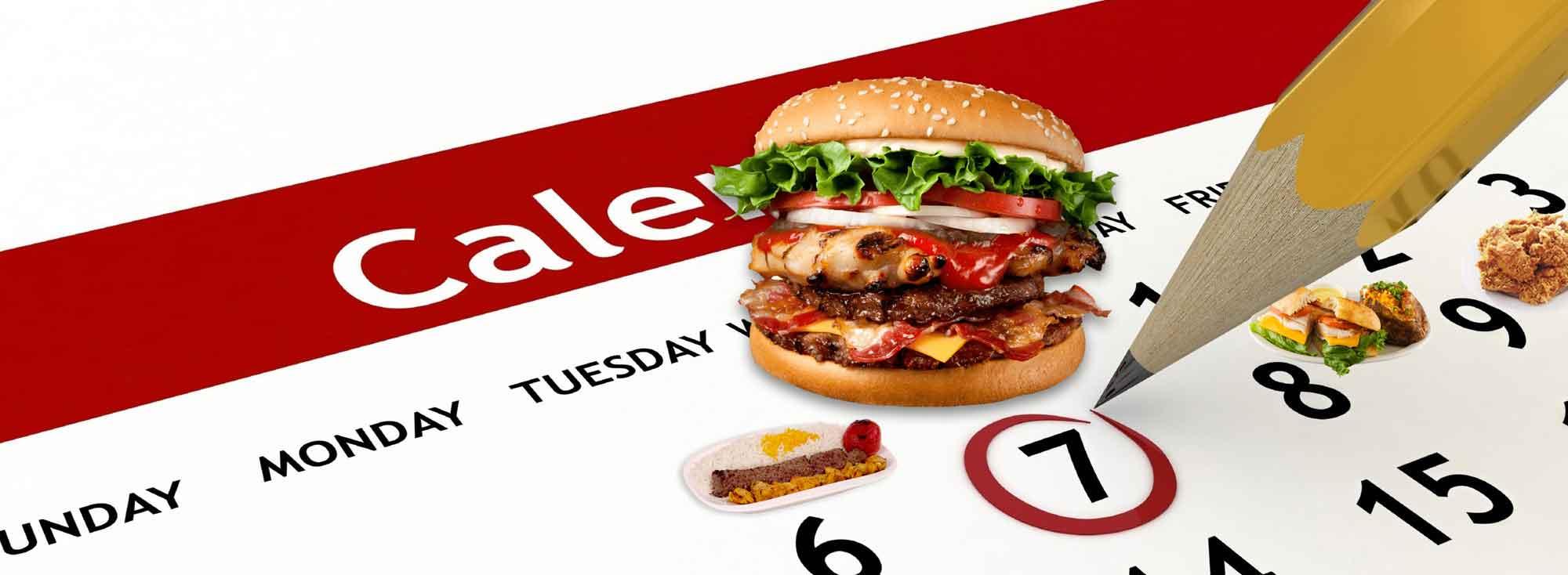 تقویم خوراکی یعنی : هر روز یک غذای جدید.